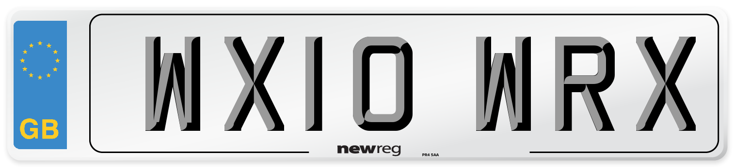 WX10 WRX Number Plate from New Reg