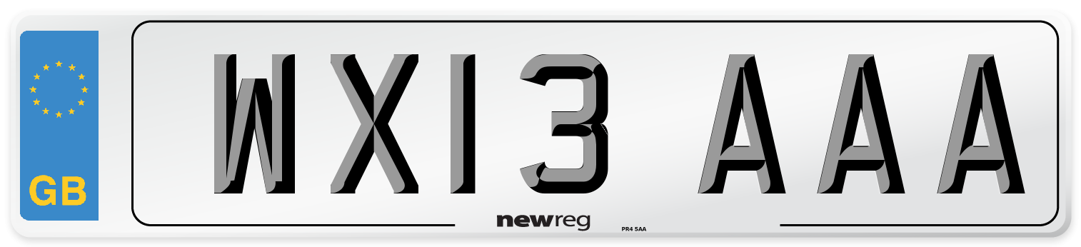 WX13 AAA Number Plate from New Reg