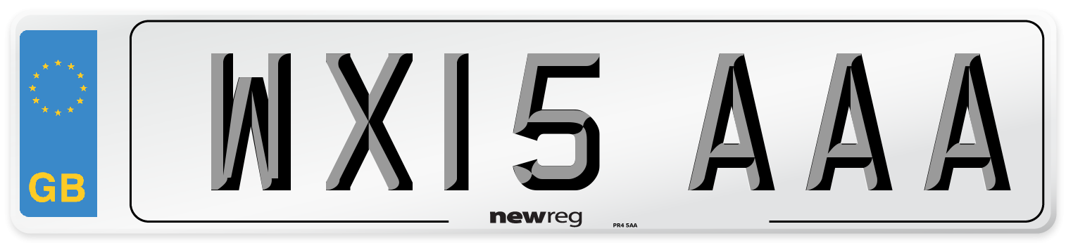WX15 AAA Number Plate from New Reg