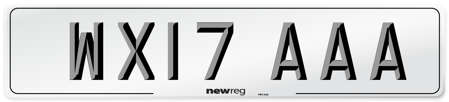 WX17 AAA Number Plate from New Reg