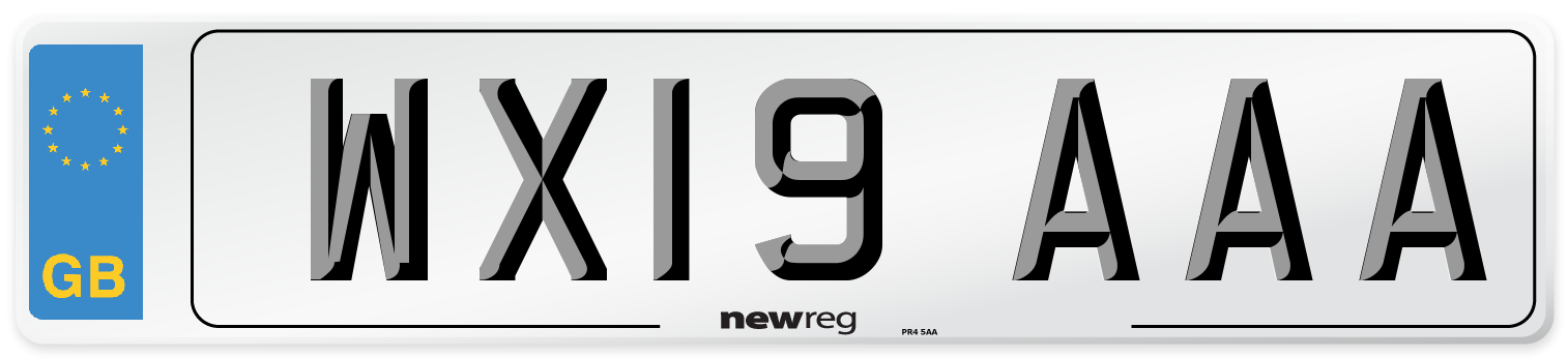 WX19 AAA Number Plate from New Reg