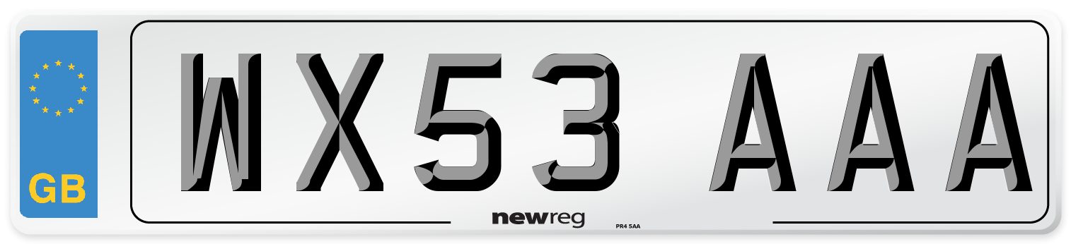 WX53 AAA Number Plate from New Reg