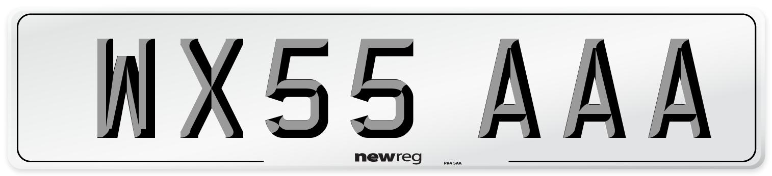 WX55 AAA Number Plate from New Reg