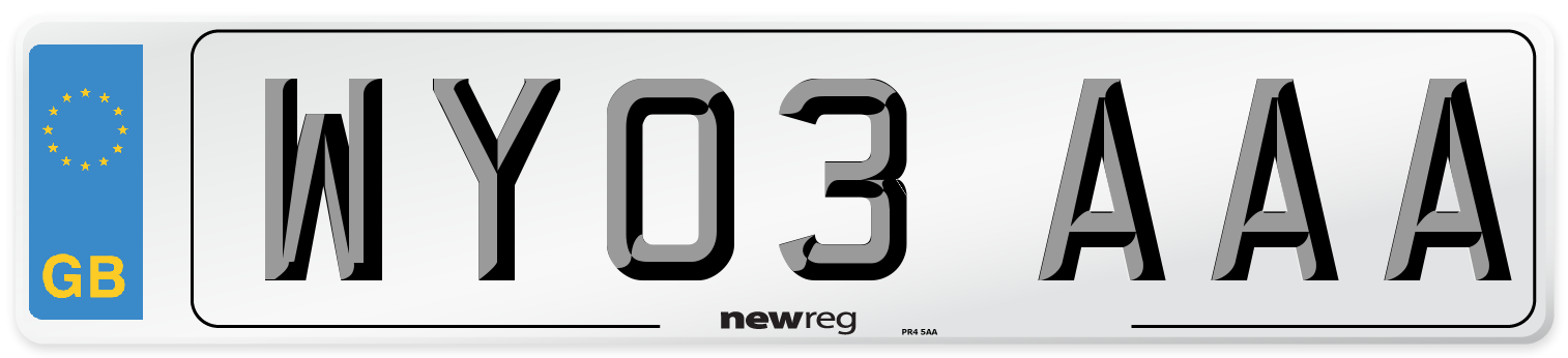 WY03 AAA Number Plate from New Reg
