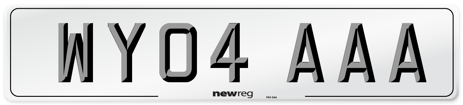 WY04 AAA Number Plate from New Reg