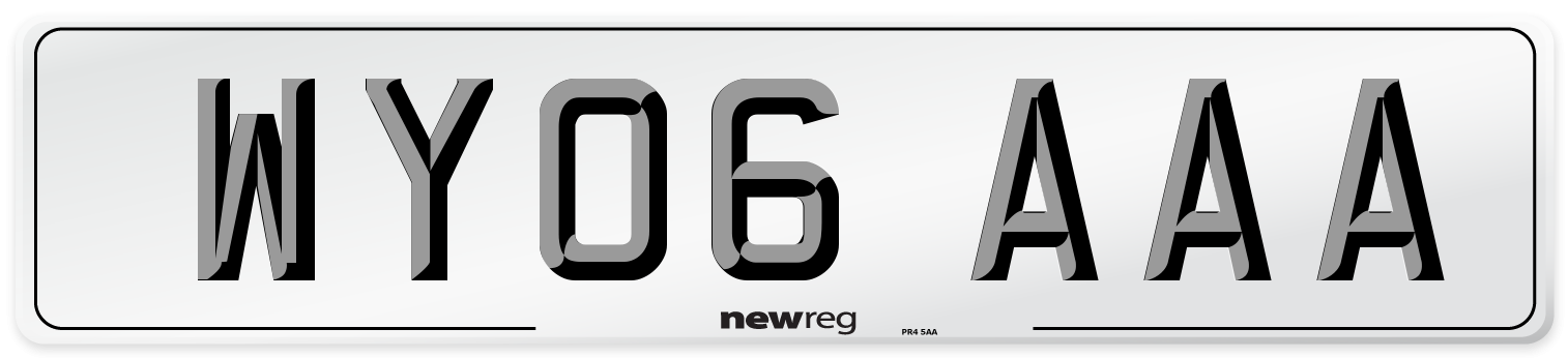 WY06 AAA Number Plate from New Reg