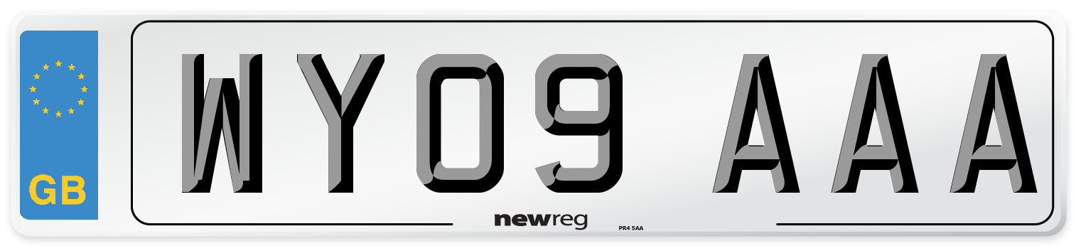 WY09 AAA Number Plate from New Reg