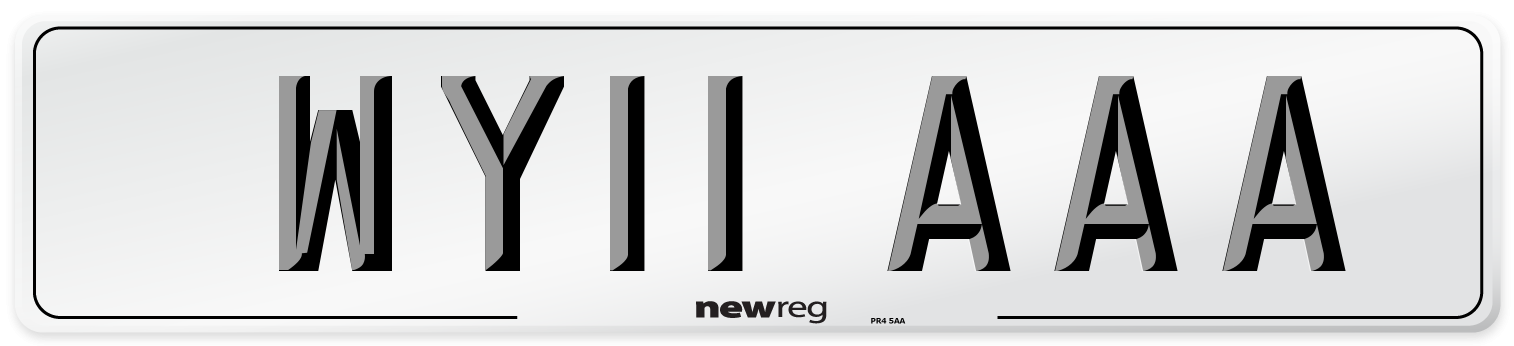 WY11 AAA Number Plate from New Reg