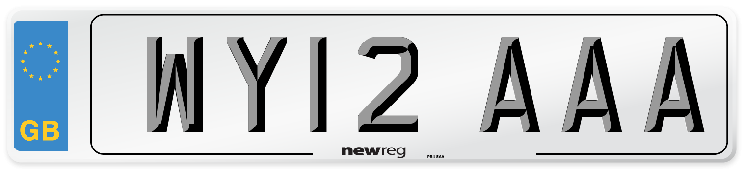 WY12 AAA Number Plate from New Reg