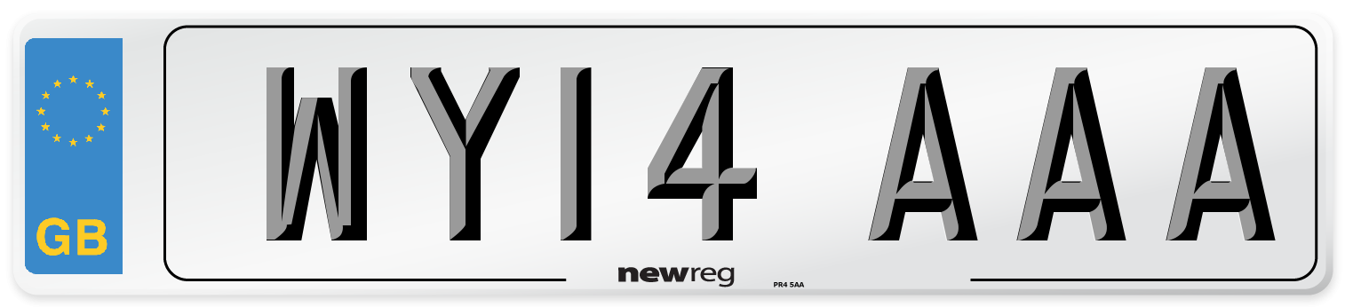WY14 AAA Number Plate from New Reg