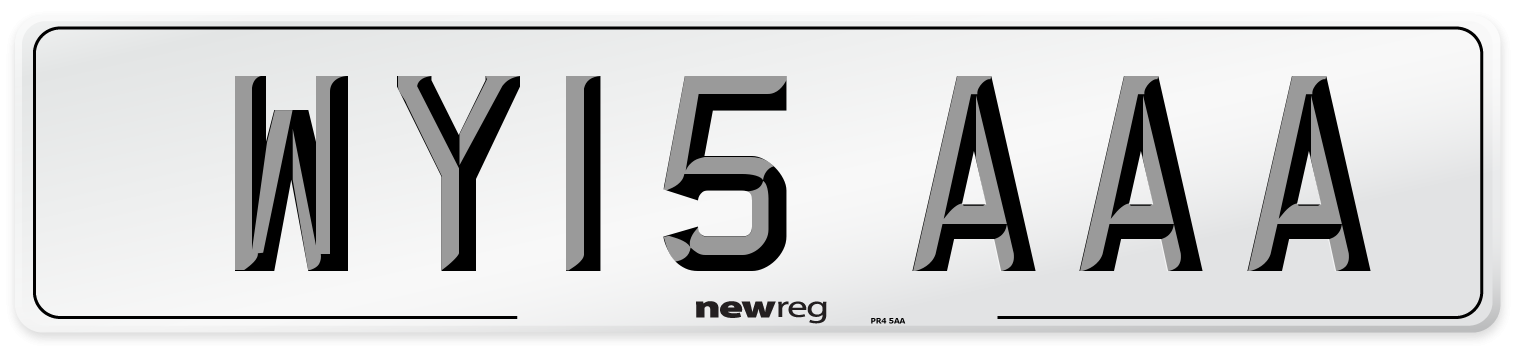 WY15 AAA Number Plate from New Reg