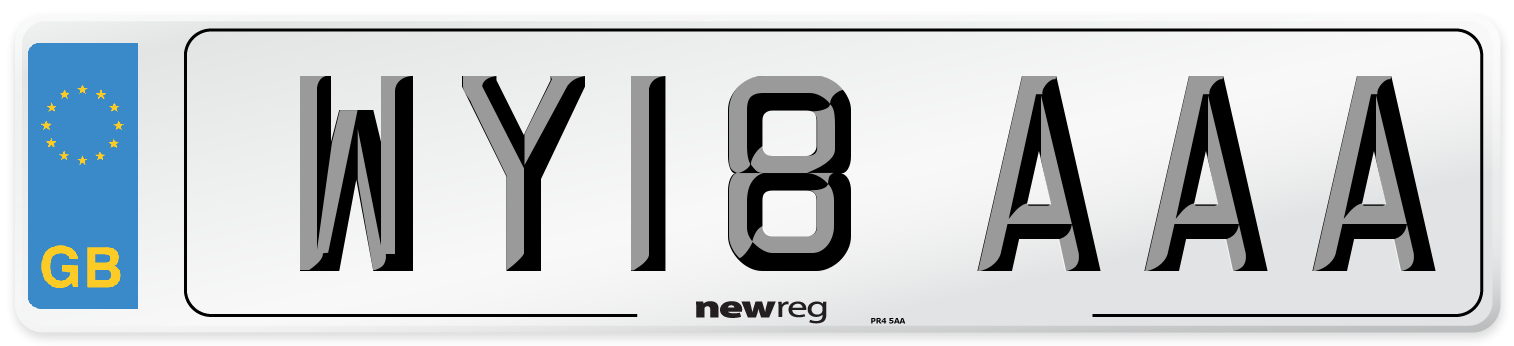 WY18 AAA Number Plate from New Reg