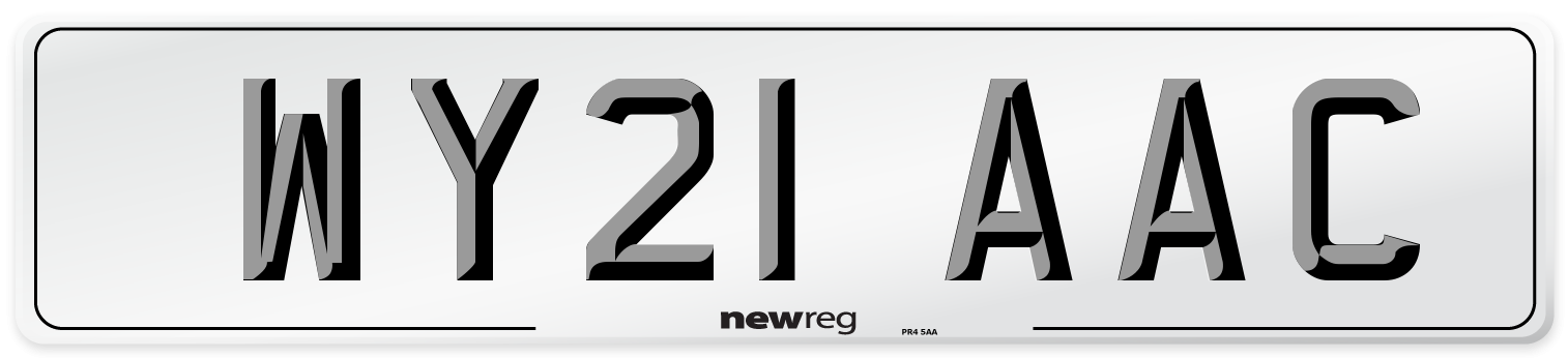 WY21 AAC Number Plate from New Reg