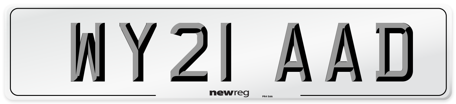 WY21 AAD Number Plate from New Reg