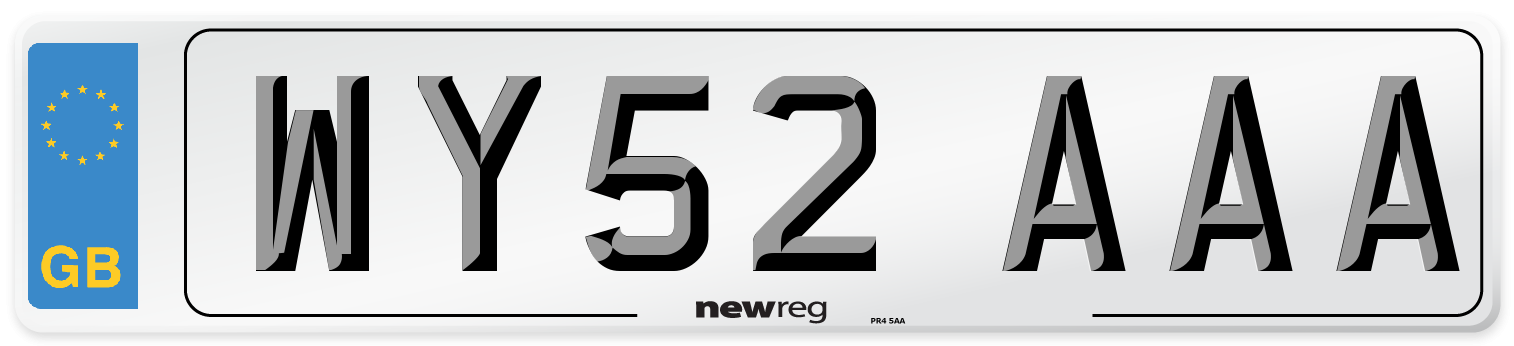WY52 AAA Number Plate from New Reg