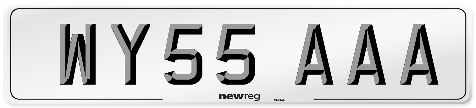 WY55 AAA Number Plate from New Reg