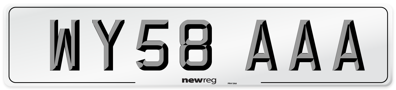 WY58 AAA Number Plate from New Reg