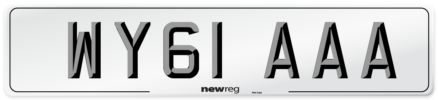 WY61 AAA Number Plate from New Reg