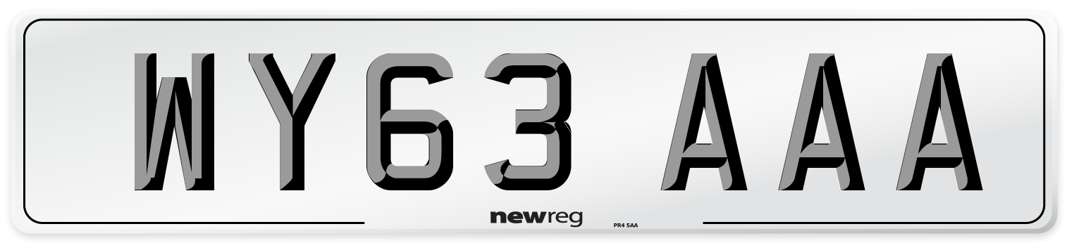 WY63 AAA Number Plate from New Reg