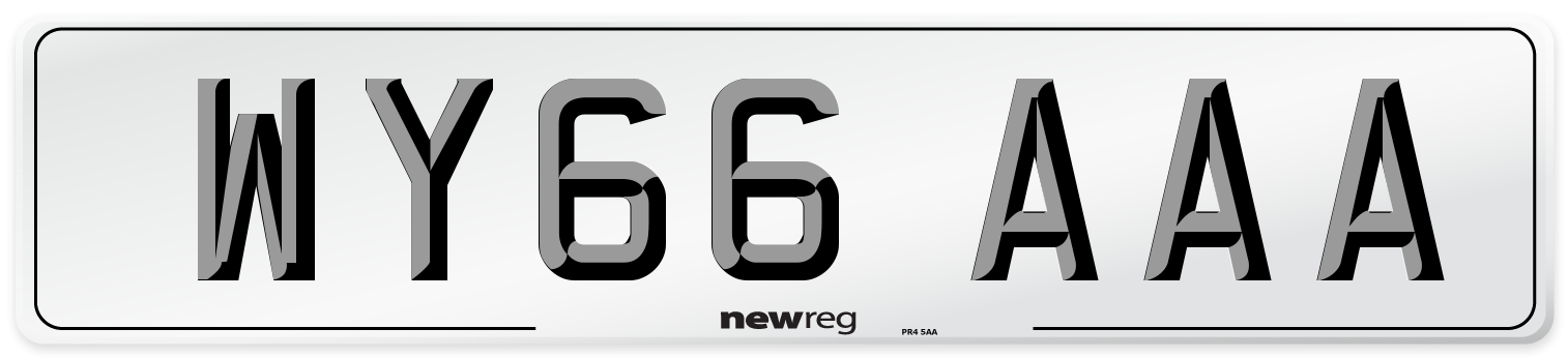 WY66 AAA Number Plate from New Reg