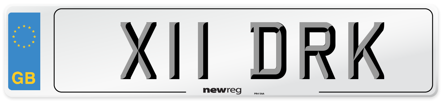 X11 DRK Number Plate from New Reg