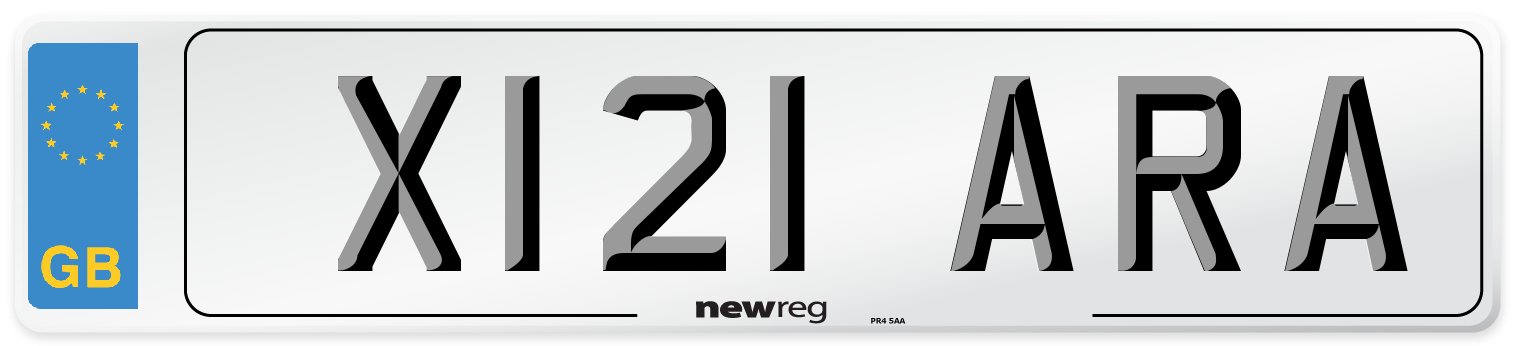 X121 ARA Number Plate from New Reg