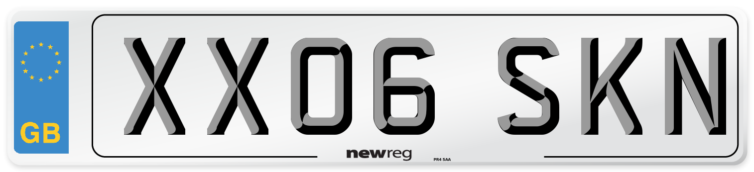 XX06 SKN Number Plate from New Reg