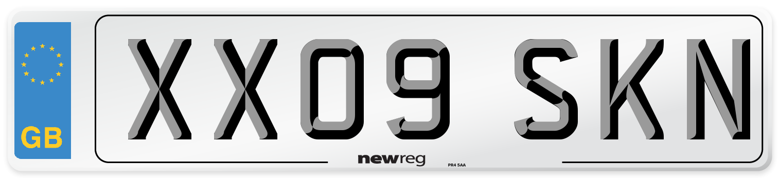 XX09 SKN Number Plate from New Reg