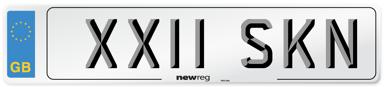 XX11 SKN Number Plate from New Reg