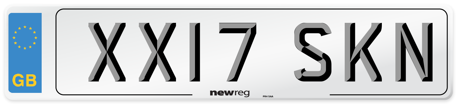 XX17 SKN Number Plate from New Reg