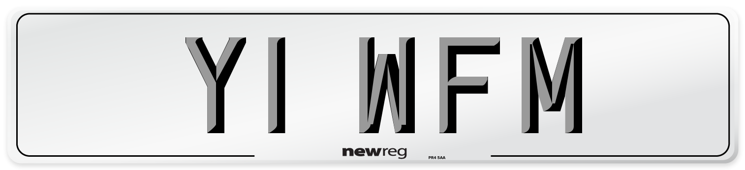 Y1 WFM Number Plate from New Reg
