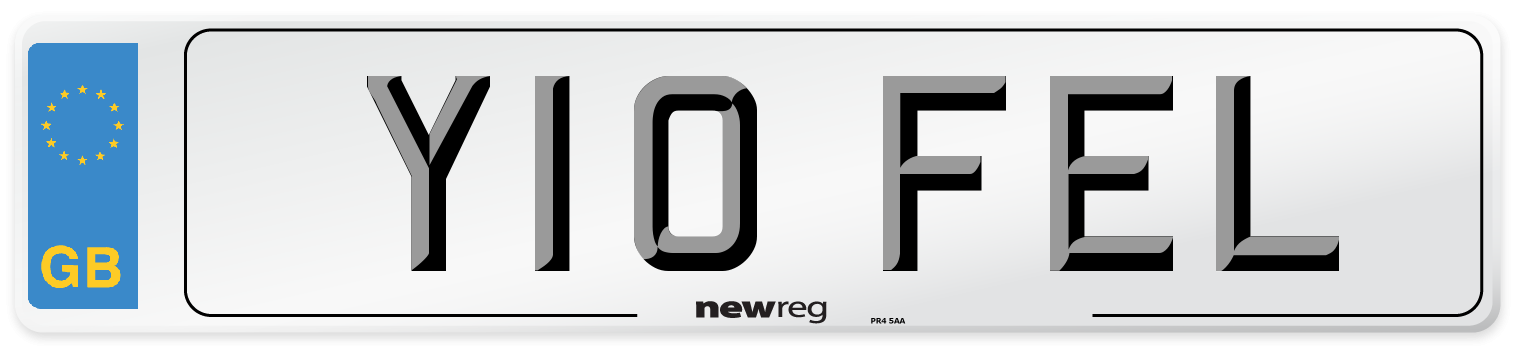 Y10 FEL Number Plate from New Reg