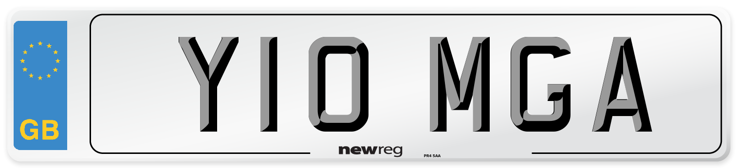 Y10 MGA Number Plate from New Reg