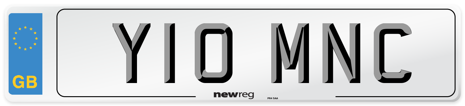 Y10 MNC Number Plate from New Reg