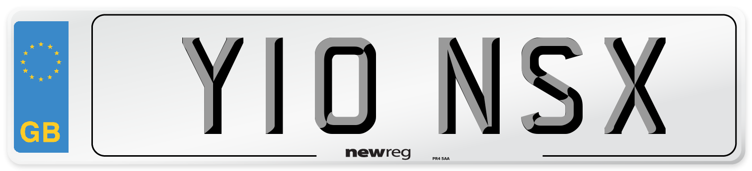 Y10 NSX Number Plate from New Reg