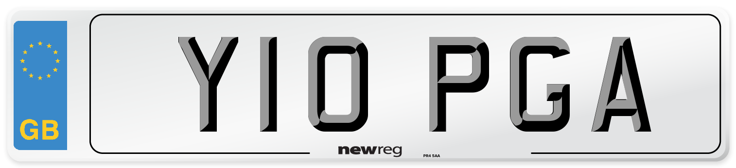 Y10 PGA Number Plate from New Reg