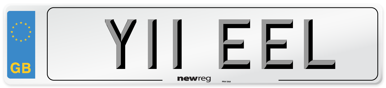 Y11 EEL Number Plate from New Reg