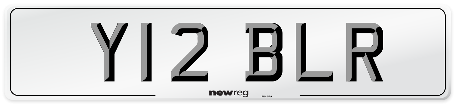 Y12 BLR Number Plate from New Reg