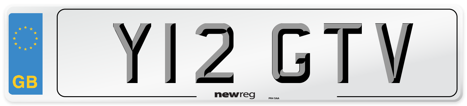 Y12 GTV Number Plate from New Reg