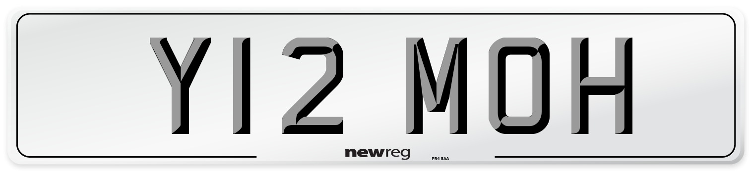 Y12 MOH Number Plate from New Reg