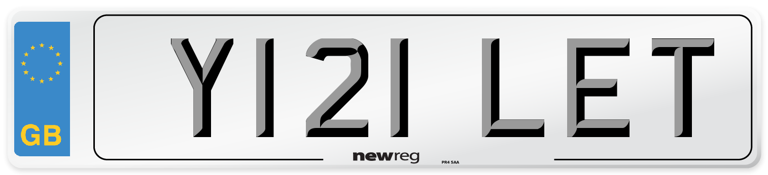 Y121 LET Number Plate from New Reg