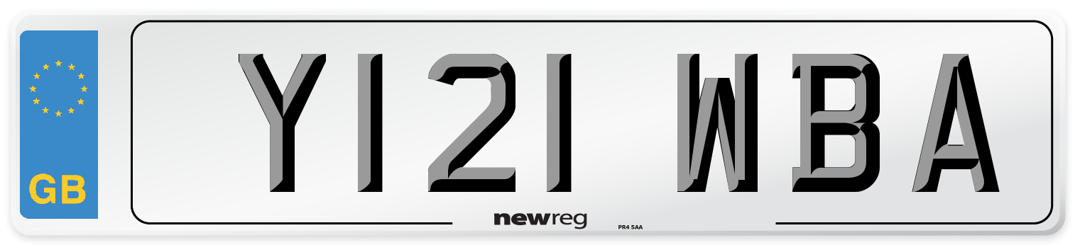 Y121 WBA Number Plate from New Reg