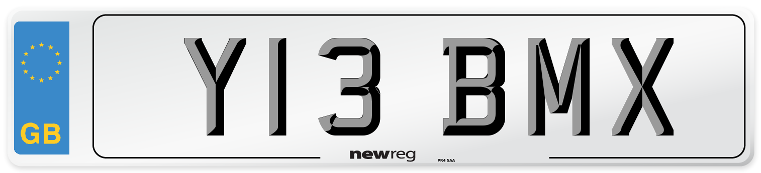 Y13 BMX Number Plate from New Reg