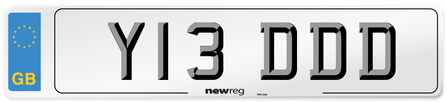 Y13 DDD Number Plate from New Reg