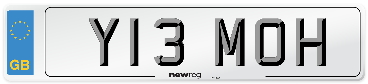 Y13 MOH Number Plate from New Reg