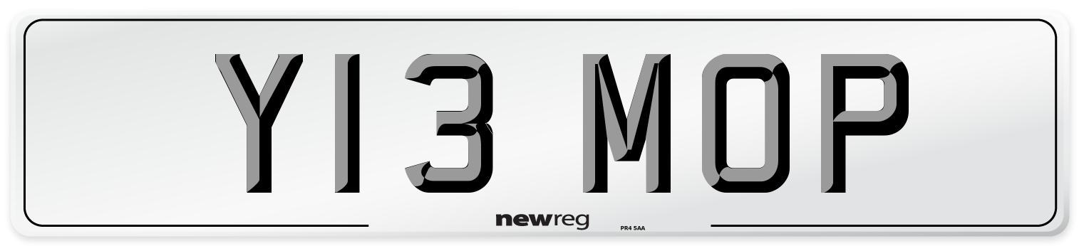 Y13 MOP Number Plate from New Reg