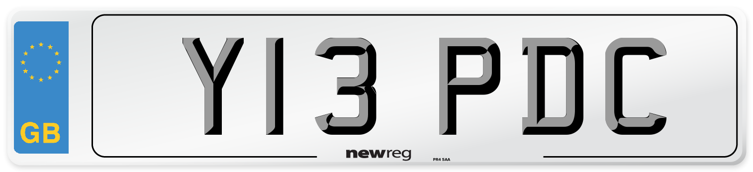 Y13 PDC Number Plate from New Reg
