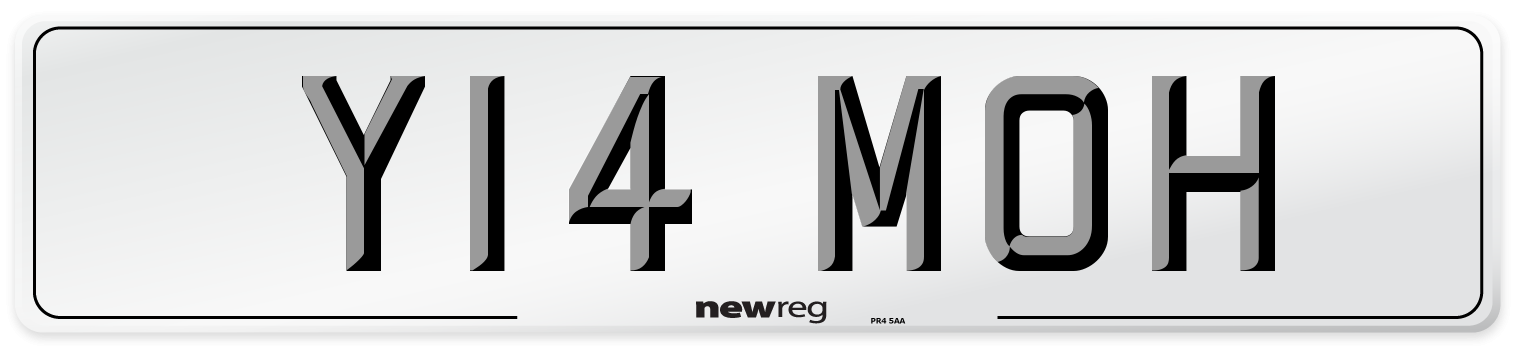 Y14 MOH Number Plate from New Reg
