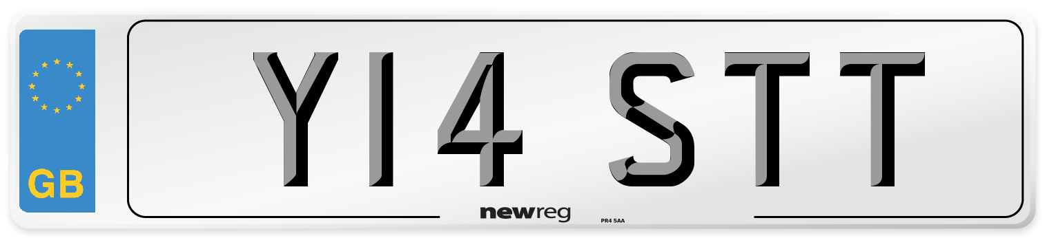 Y14 STT Number Plate from New Reg