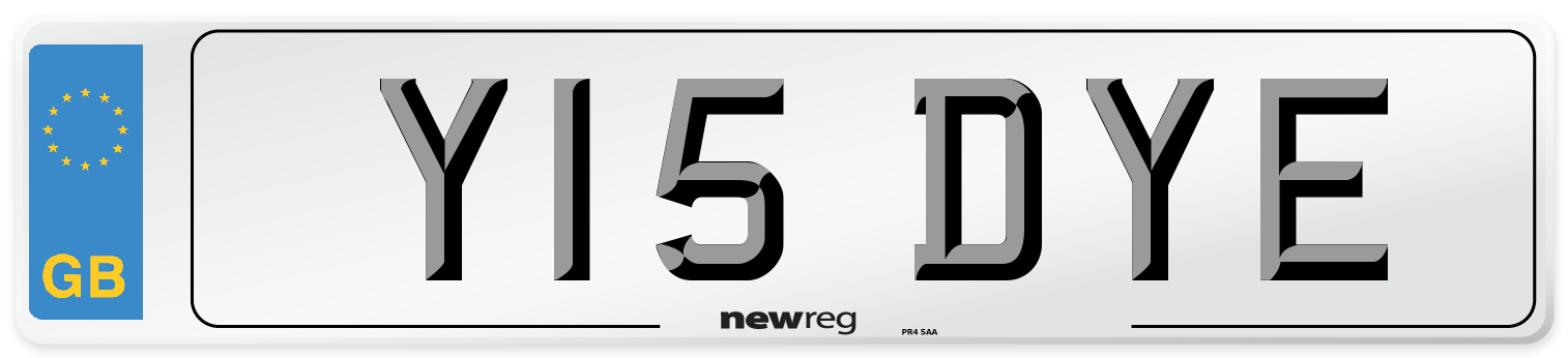 Y15 DYE Number Plate from New Reg